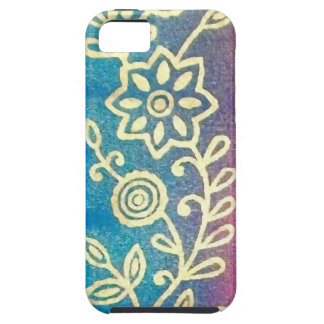 Pink Gold Blue Sari iPhone 5 Case