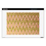 """Pink & Gold Chevron Pattern 15"""" Laptop Skins"""
