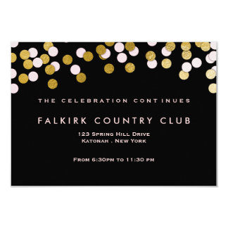 Pink | Gold Confetti Bat Mitzvah Reception Card