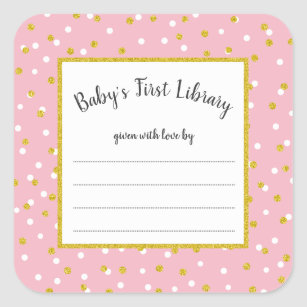 Baby Shower Bookplates Gifts on Zazzle