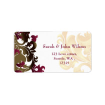 pink  gold elegance return address label