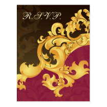 pink  gold elegance RSVP cards