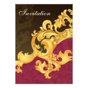 Pink and gold wedding invites by mgdezigns