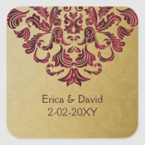 pink gold envelope seal