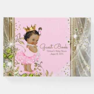 Pink Gold Ethnic Princess Baby Shower Guest Book
