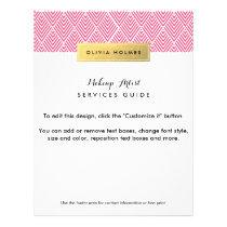 Pink & Gold Faux Foil Chevron Pattern Flyer