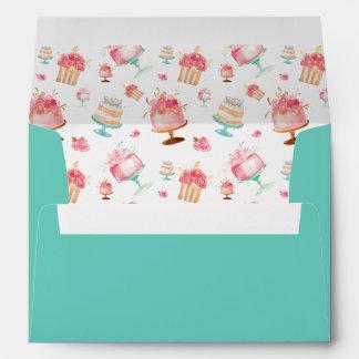 Pink Gold Floral Cake Wreath envelopes