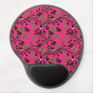 Pink & Gold Floral Gel Mouse Pad