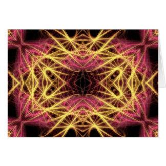 pink & gold fractal card