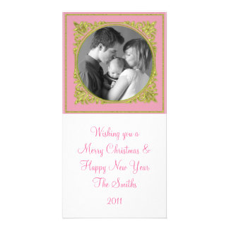 Pink & Gold Frame Card