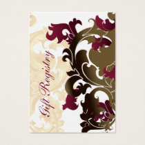 pink  gold Gift registry  Cards