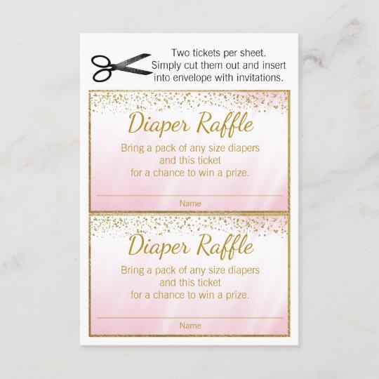 pink gold girls diaper raffle tickets zazzle com