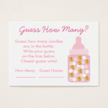 Pink & Gold Glitter Guess How Many Cards