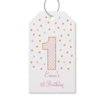 Pink & Gold Glitter Party Favor Tags