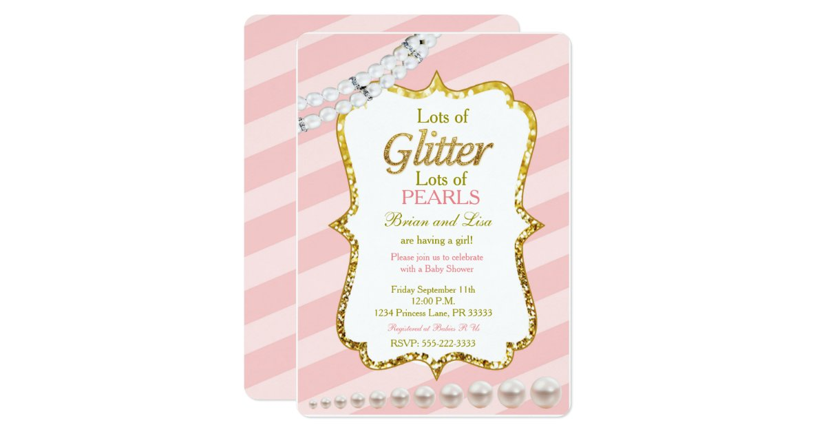 Glitter Baby Shower Invitations – gangcraft.net