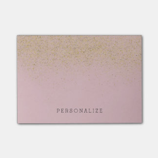 Pink Gold Glitter Post-it Notes
