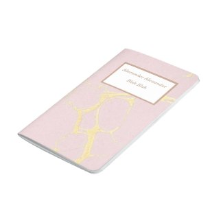Pink Gold Marble Pocket Book