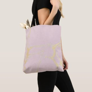 Pink Gold Marble Tote Bag