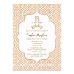Pink Gold Moroccan Baby Girl Shower Invitations