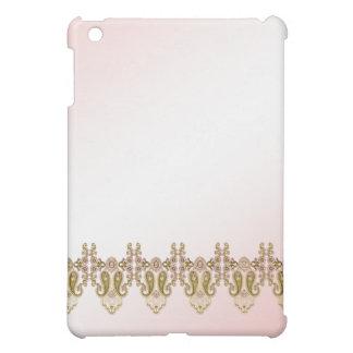 Pink Gold Pearl Trim Pink  iPad Mini Case