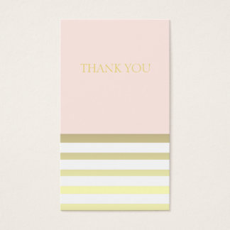 Pink & Gold Personal or Business Thank You Business Card