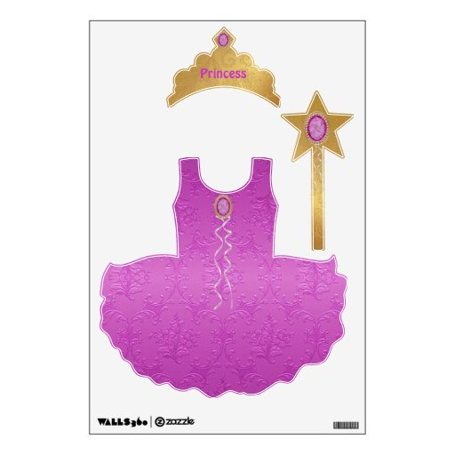 Pink & Gold Pretty Princess Wall Stickers