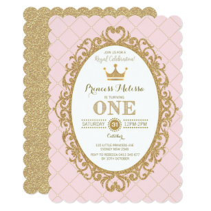 Princess 1st Birthday Invitations Zazzle