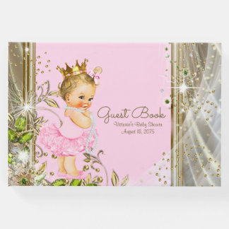 Pink Gold Princess Baby Shower Guest Book