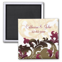 pink  gold Save the date magnet
