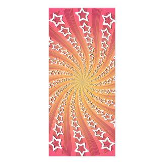 Pink Gold Star Spiral Customized Rack Card
