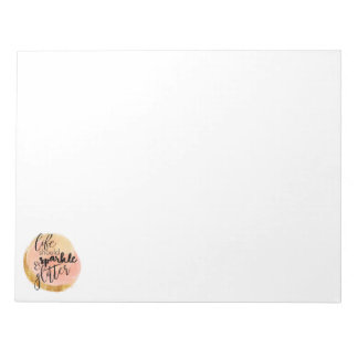 Pink & Gold Watercolor Polka Dot Weekly Notepad