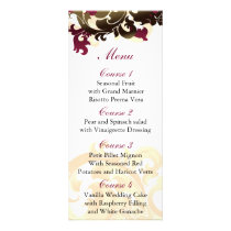 pink   gold Wedding menu