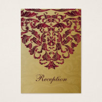 pink gold wedding Reception Cards