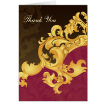 pink  gold wedding ThankYou Cards