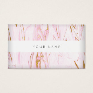 Pink Gold White Marble Vip Abstract Business Card
