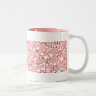 Pink,Golden Times_ Two-Tone Coffee Mug