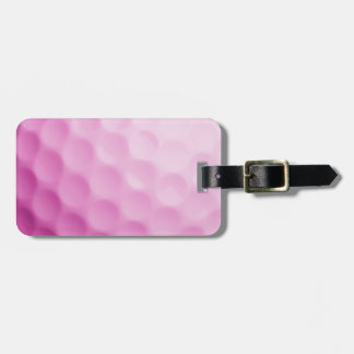 Pink Golf Ball Background Customized Template Bag Tag