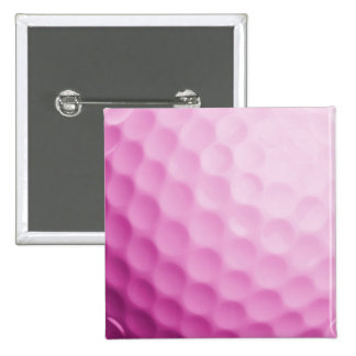 Pink Golf Ball Background Customized Template Pinback Button