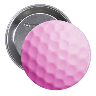 Pink Golf Ball Background Customized Template Button