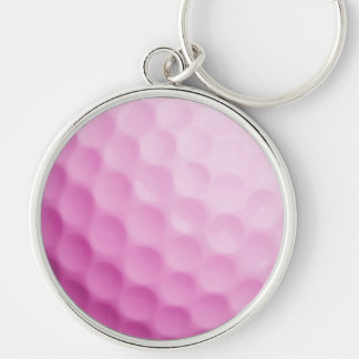 Pink Golf Ball Background Customized Template Keychain