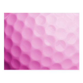 Pink Golf Ball Background Customized Template Postcards