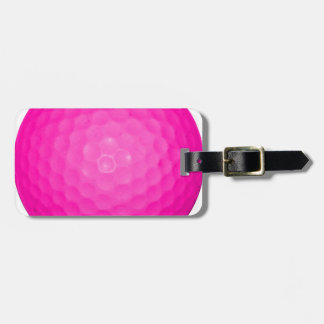 Pink Golf Ball Luggage Tags