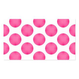 Pink Golf Ball Pattern Business Card
