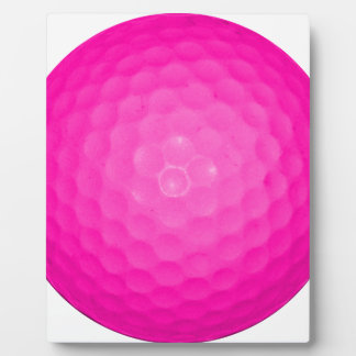 Pink Golf Ball Display Plaques