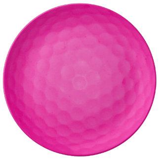 Pink Golf Ball Plate