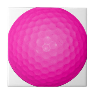 Pink Golf Ball Small Square Tile