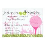Pink Golf Date 5x7 Paper Invitation Card