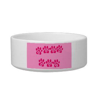 pink good dog cat food bowl
