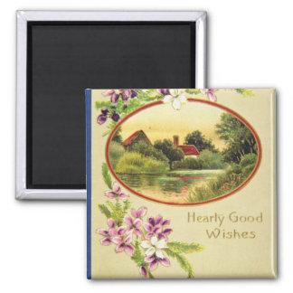 Pink Good Wishes, Davidson Bros., Pictorial Series Fridge Magnet
