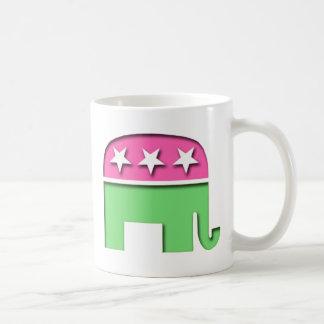 Pink GOP Elephant Mugs